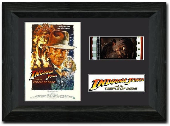 Indiana Jones and the Temple of Doom  35mm Framed Film Cell Display