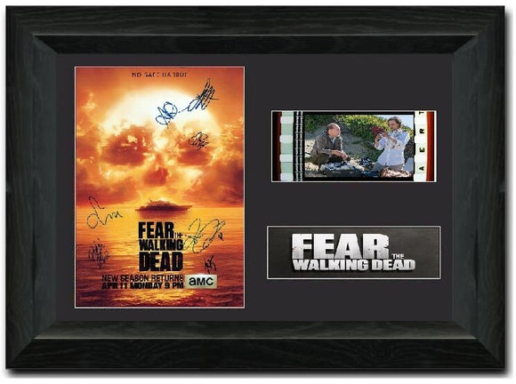 Fear the Walking Dead S3 35mm Framed Film Cell Display Cast Signed