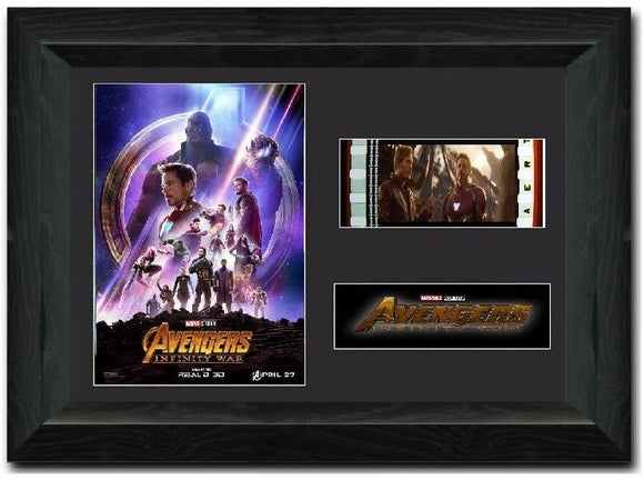 Avengers: Infinity War S2 35mm Framed Film Cell Display Cast Signed
