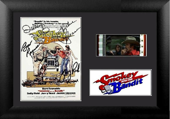 Smokey and the Bandit 35mm Framed Film Cell Display Signed