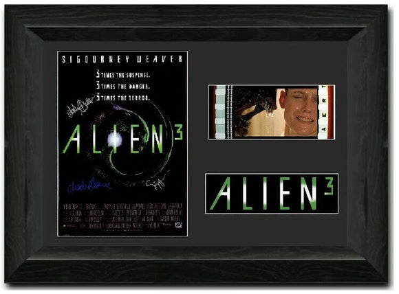 Alien 3 35mm Framed Film Cell Display Signed