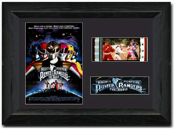 Mighty Morphin Power Rangers: The Movie 35mm Framed Film Cell Display