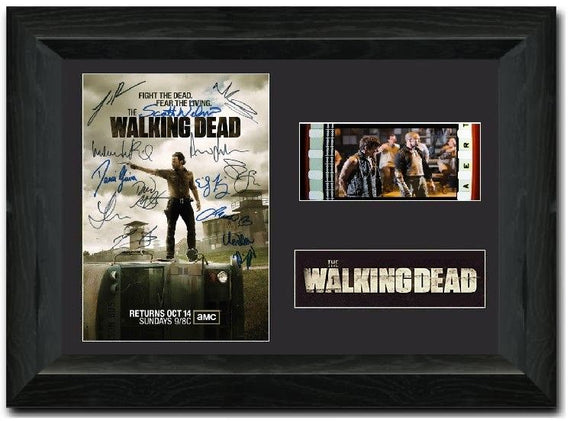 The Walking Dead S2 35mm Framed Film Cell Display
