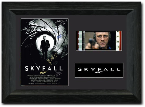 Skyfall 35mm Framed Film Cell Display Cast Signed
