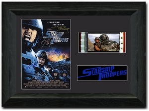 Star ship Troopers 35 mm Film cell Display Cast Signed