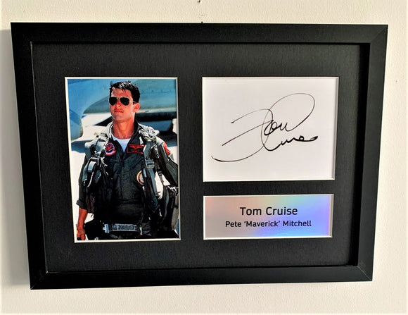 Tom Cruise as Pete 'Maverick' Mitchell A4 Autographed Display