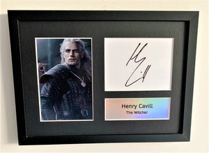 Henry Cavil as The Witcher A4 Autographed Display
