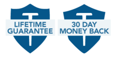 Lifetime guaranteee 30 day money back