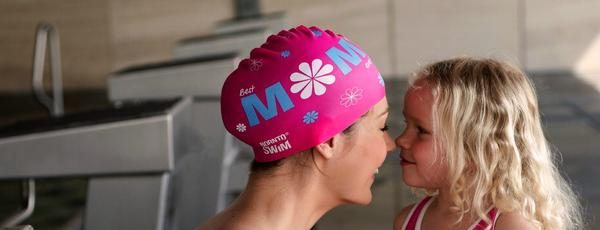 Mother's day swim cap
