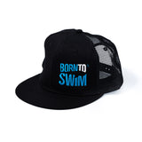 Mesh hat black for swimmers