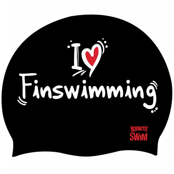 Black I love finswimming