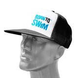 Trucker Mash Hat with Born To Swim Logo