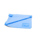 Blue chamois towel for divers
