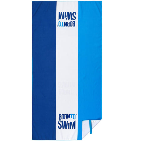 BornToSwim® Microfiber Towel with Stripes