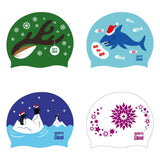 Christmas Holiday Silicone Swim Hat - *Limited Edition*