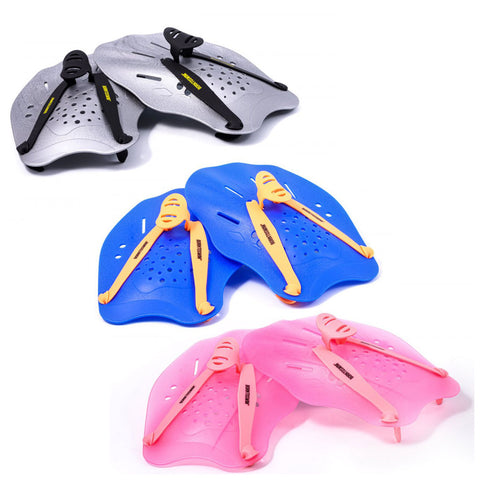 Ergonomical Hand Paddles - Blue, Pink, Silver