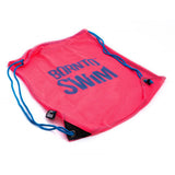 Bright pink mesh bag for swimmers