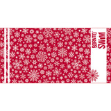 red Christmas microfibre towel