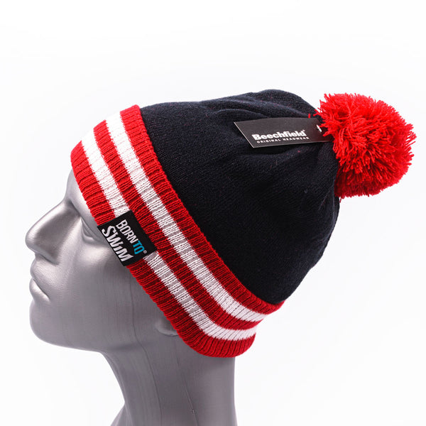 Bobble beanie with cuff