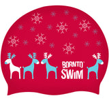 happy holidays swim cap