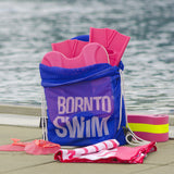 Pink swim kit mesh bag