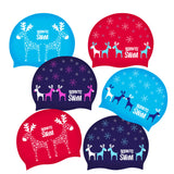 Reindeer holiday swimming hats