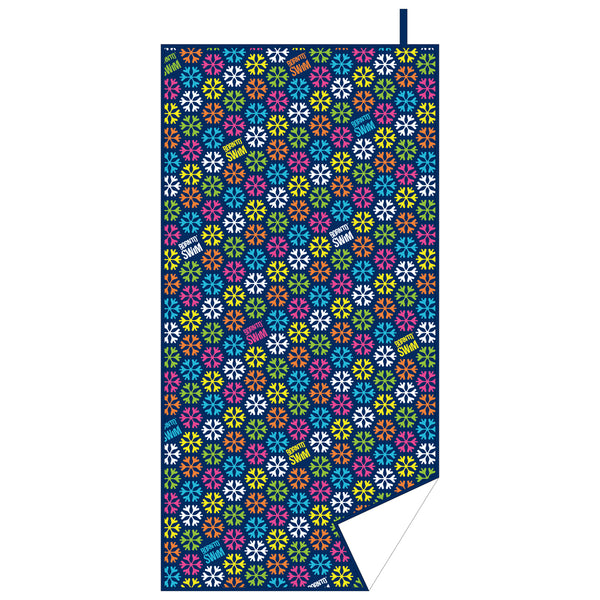 Snowflakes beach towel