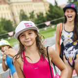 Baseball cap for swimmer girl