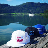 Trucker hats Born To Swim