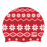 ugly christmas jumper design swim cap