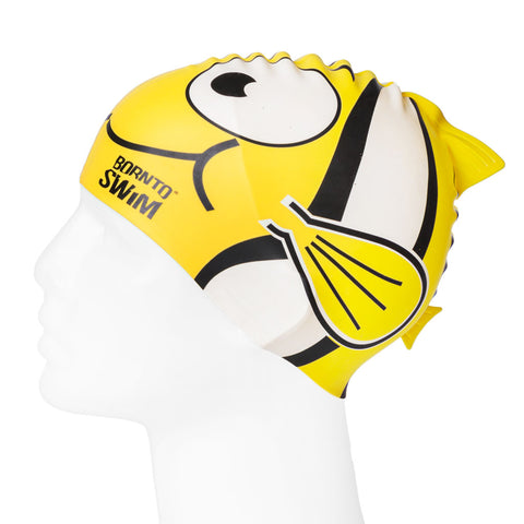 Junior Silicone Swim Cap - FISH