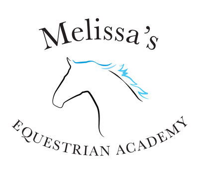 Melissa's Equestrian Academy logo. For all horse related products