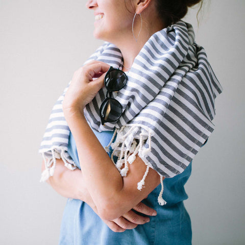 Transform any outfit with a scarf