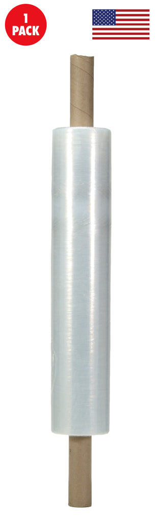 20 Inches X 1000 Feet Shrink Wrap Roll - 80 Gauge Thick Heavy Duty Stretch  Industrial With Handles, Made in USA, Clear