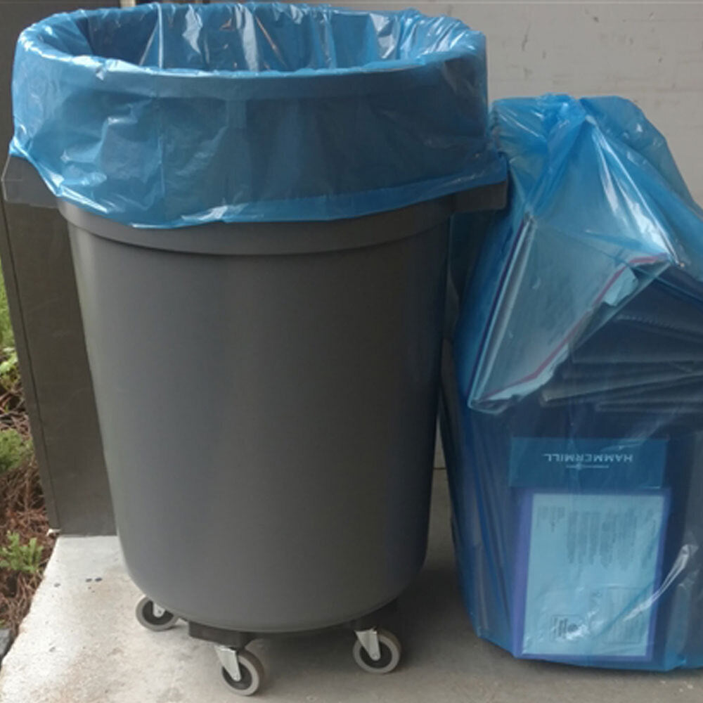 "55 Gallon 1.5 MIL Recycle Bags, 36"" x 52"""