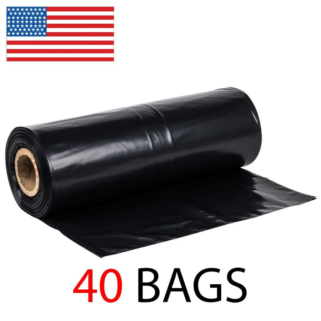 "42 Gallon 3 MIL Extra Heavy Duty Contractor Garbage Bags Roll, 37"" x 43"""