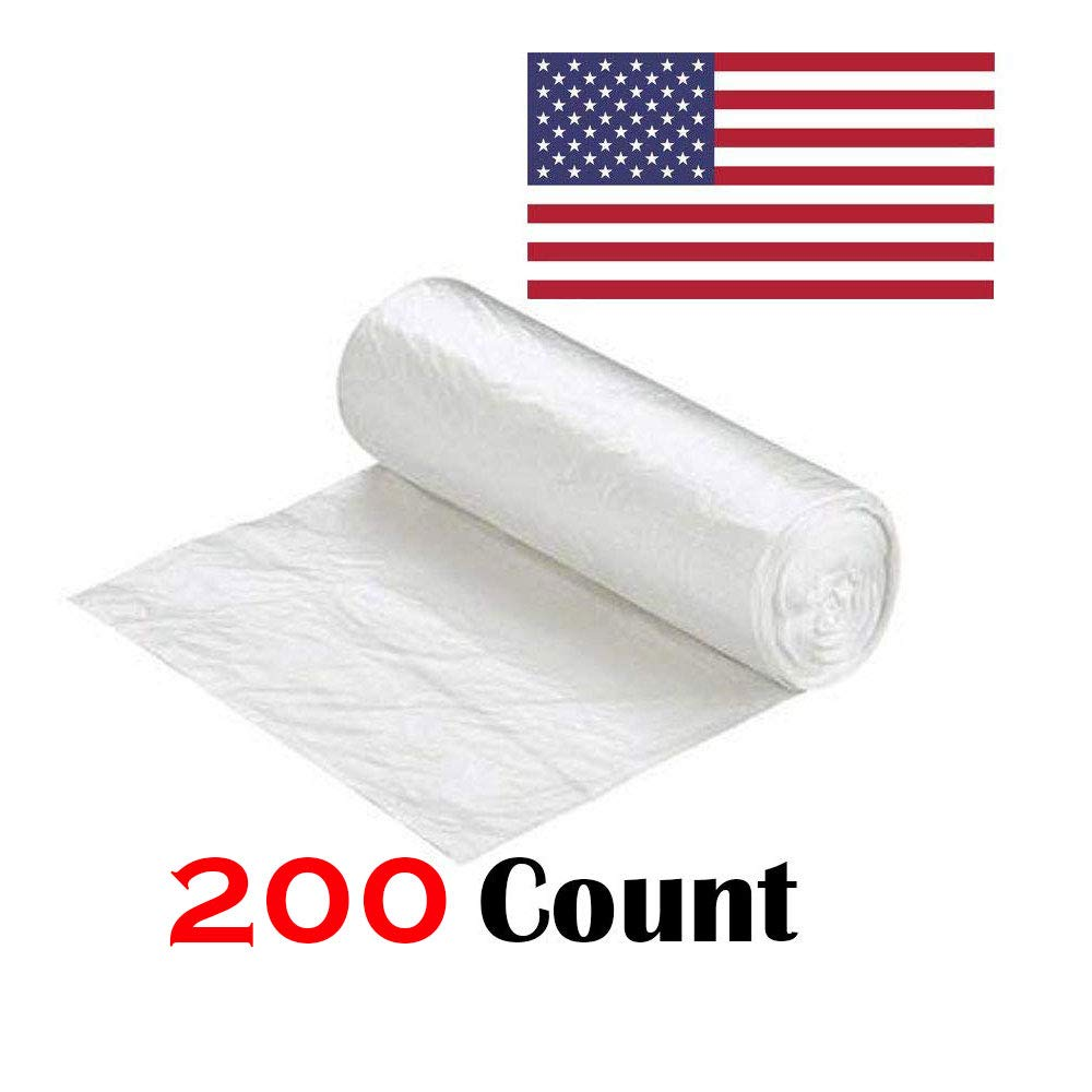 "Ox Plastics 45-50 Gallon Trash Can Liner, High Density 40""x48"", 200 Bags/Rolls Per Case, Easy To Use and Store, For Bathroom, Kitchen, or Office Wastebaskets"