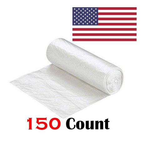 "Ox Plastics 45-50 Gallon Trash Can Liner, High Density 40""x48"", 150 Bags/Rolls Per Case, Easy To Use and Store, For Bathroom, Kitchen, or Office Wastebaskets"