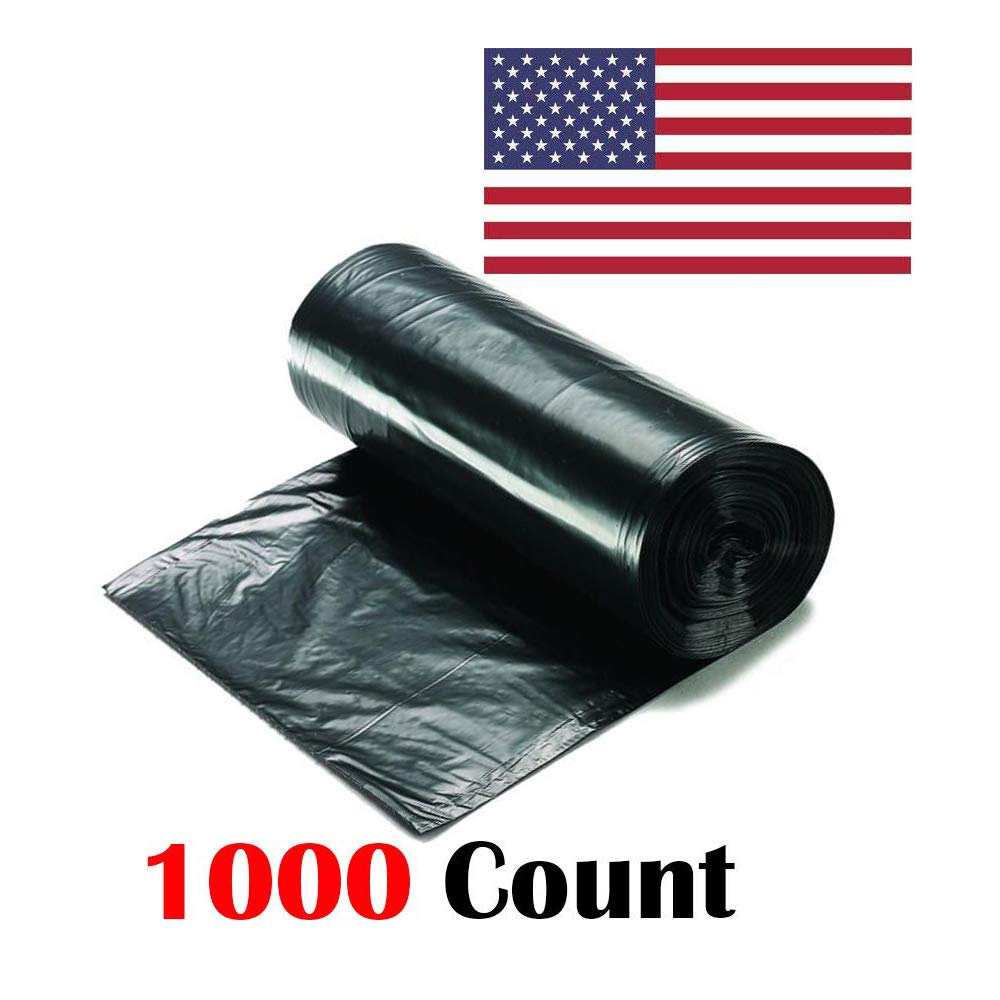 "Ox Plastics 7-10 Gallon Trash Can Liner, High Density 24""x24"", 1000 Bags"