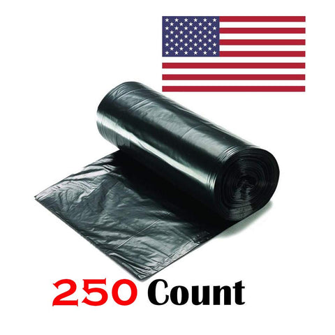 "Ox Plastics 45-50 Gallon Trash Can Liner, High Density 40""x48"", 250 Bags/Rolls Per Case, Easy To Use and Store, For Bathroom, Kitchen, or Office Wastebaskets"