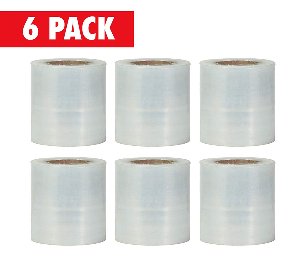 Plastic Stretch Pallet Wrap Core, 3 Inches X 1000 Feet, 80 Gauge, Clear Shrink Stretch Film Roll, Furniture, Boxes, Pallets, Industrial Strength, Made in USA