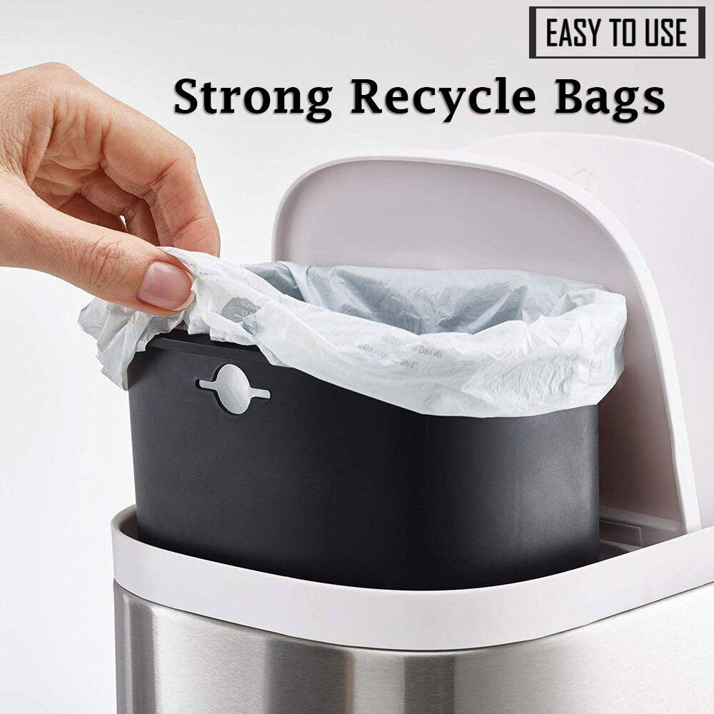 60-65 Gallon 1.5 MIL Strong Clear Trash Bags