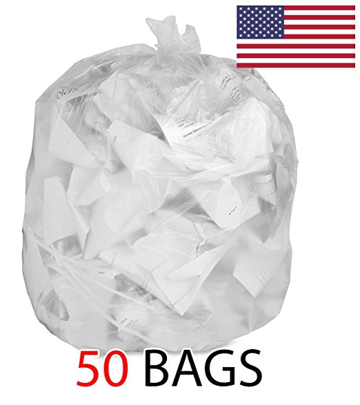 50-39 Gallon 1.5 MIL Strong Clear Trash Bags