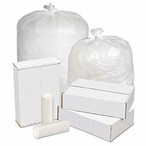 "Ox Plastics 13 Gallon Trash Can Liner, High Density 24""x33"" Clear 1000 Bags"