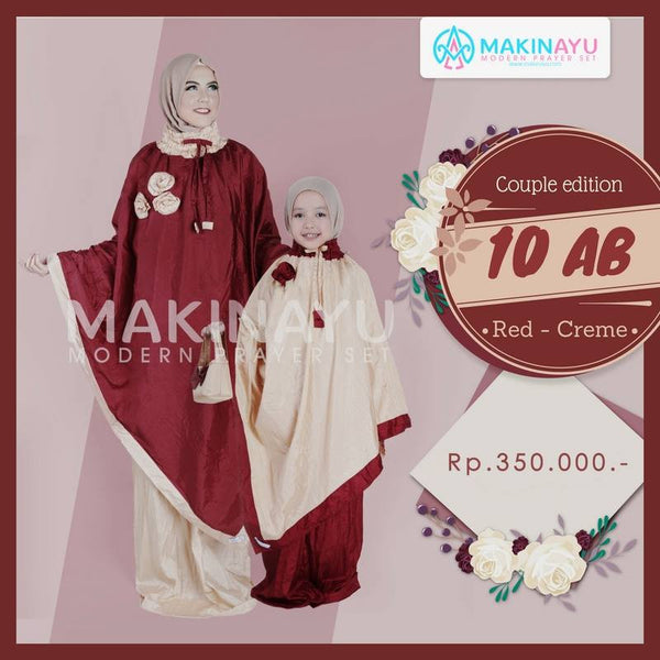 Mukena Couple Red Creme 10AB