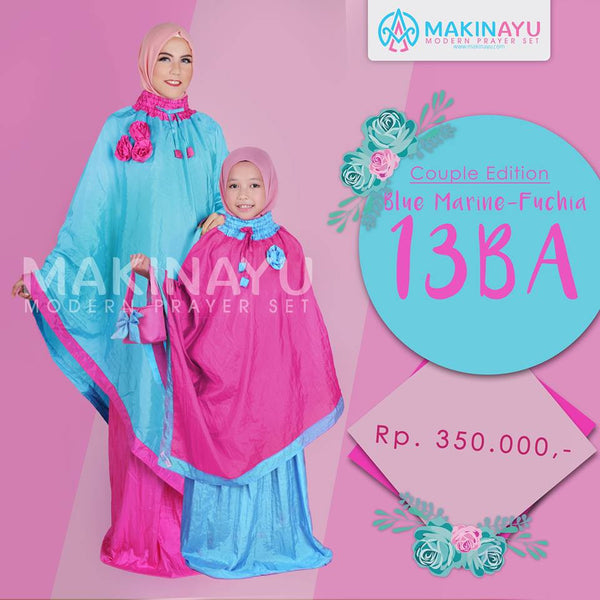 Mukena Couple Blue Marine 13BA