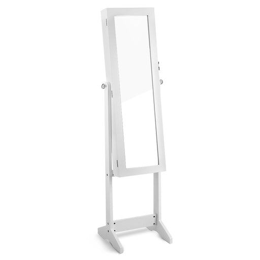 110cm Mirrow with Cabinet - White