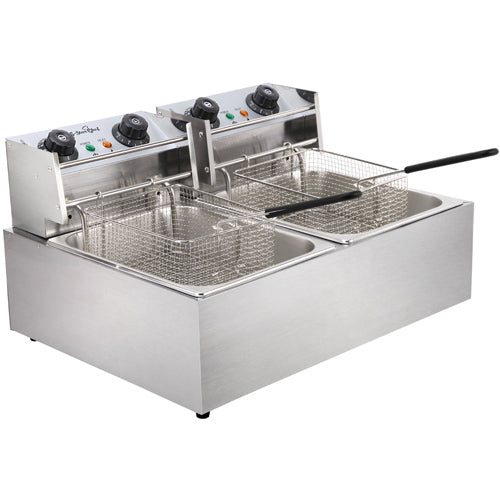 5 Star Chef Deep Fryer w/ Twin Basket