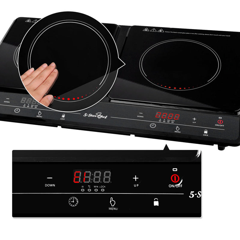 5 Star Chef Induction Cooktop Portable Duo