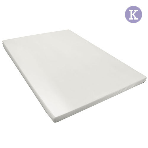 Visco Elastic Memory Foam Mattress Topper 8cm King